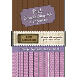 Packs-scrapbooking - motif rose relief