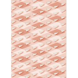 Avions en papier sur losanges rouges