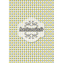 Billes jaunes et bleues - stamp