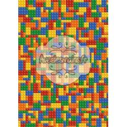 Construction enfantine multicolore - stamp