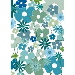 pèle mêle de fleurs bleues