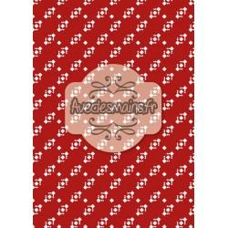 Diagonale de noël sur fond rouge - stamp