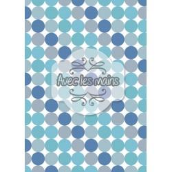 diagonales de cercles bleus