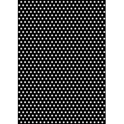 cercles blancs fond noir