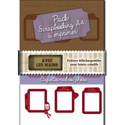 Etiquettes-cadres photos à texte - Packs-scrapbooking