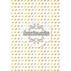 Multiplication de petit bonbons multicolors - stamp