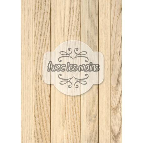 Lames de bois marron clair - stamp