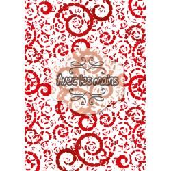 Spirales en boudins - rouge foncé