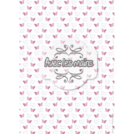Papillons - rose - mini pack - stamp