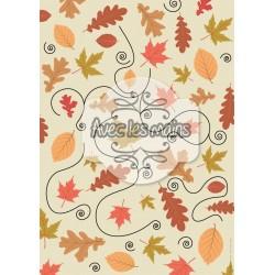 feuilles d'automne en chute - stamp