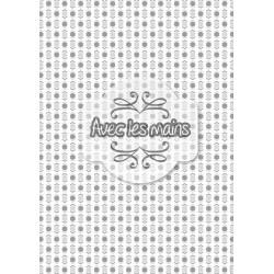 Hexagones et chevrons gris - mini pack - stamp