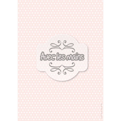 Points blancs 2 tailles sur fond rose - stamp