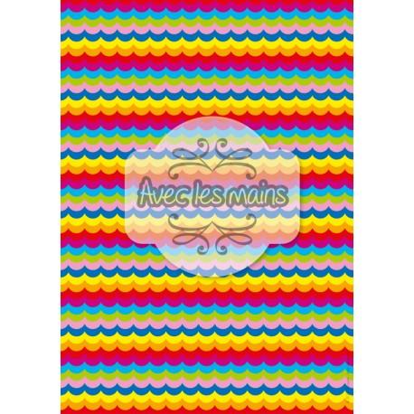 Vaguelettes multicolores - stamp