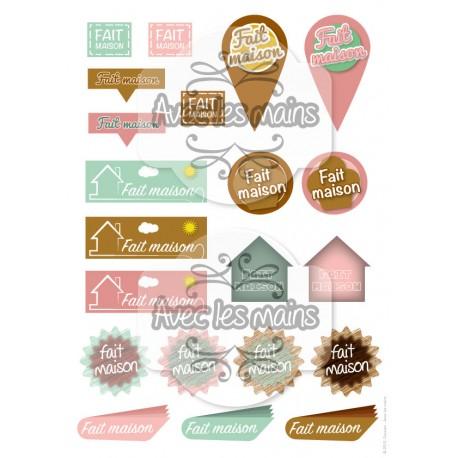 Étiquettes - Fait maison - stamp