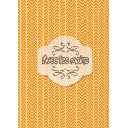 Chevrons blancs orange - minipack
