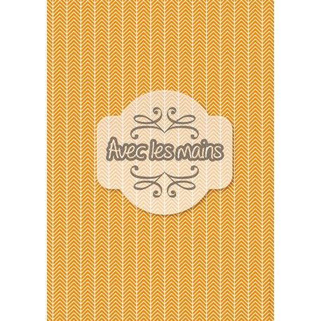 Chevrons blancs orange 1 - stamp