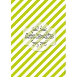 Diagonales vertes et blanches - stamp