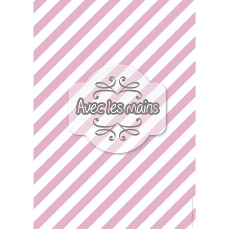 Diagonales roses et blanches - stamp