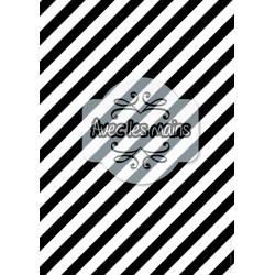 Diagonales noires et blanches épaisses