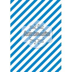Diagonales bleues et blanches