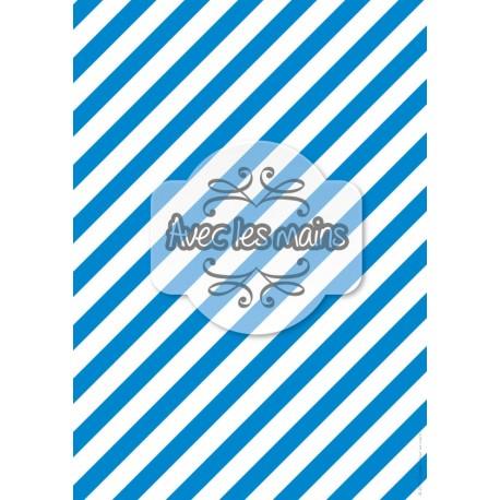 Diagonales bleues et blanches - stamp