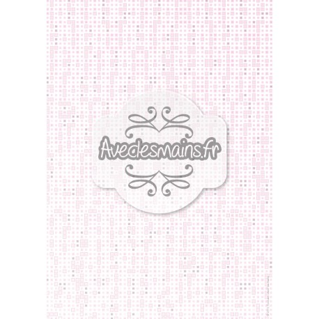 Imitation pixel rose clair - stamp