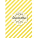Diagonales jaunes et blanches