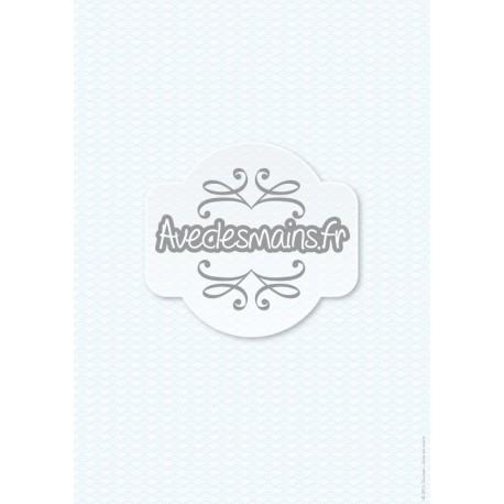 Vagues bleues japonisantes - stamp
