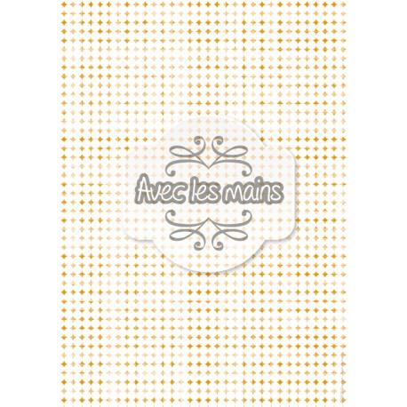Cercles blancs sur fond orange usé - stamp
