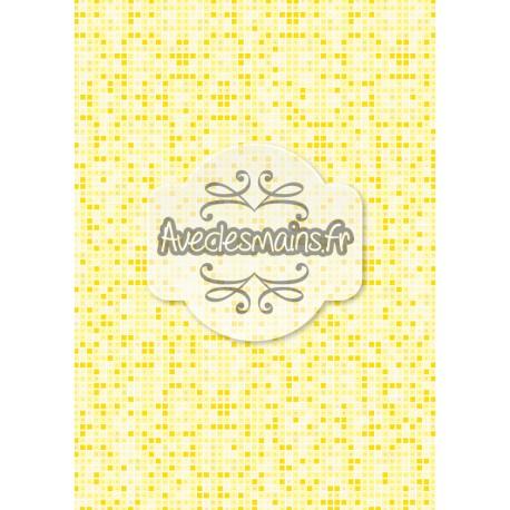 Imitation pixel jaune - stamp