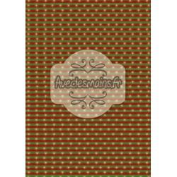 Étoiles sur rayures vertes-rouge + Fond dorée - mini pack