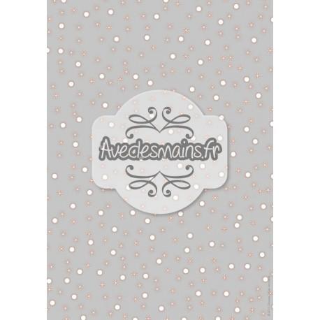 Étoiles et points blancs sur fond gris - stamp