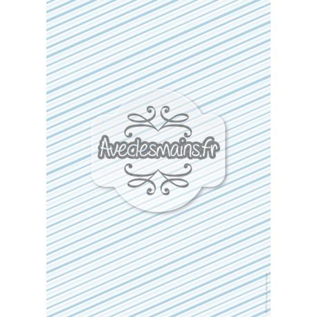 Diagonales irrégulières bleues - stamp