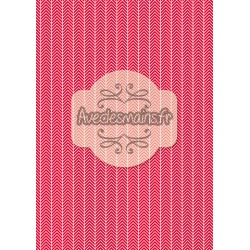Chevrons blancs rouge - minipack
