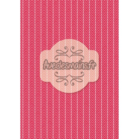Chevrons blancs rouge 1 - stamp