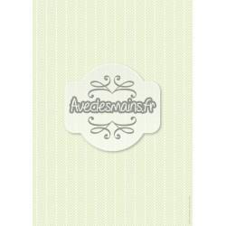 Chevrons blancs vert pale - minipack