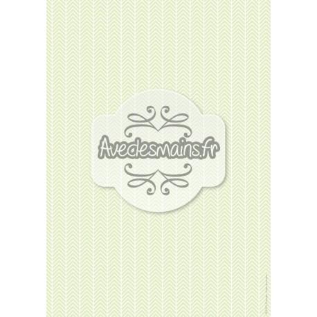 Chevrons blancs vert pale 1 - stamp