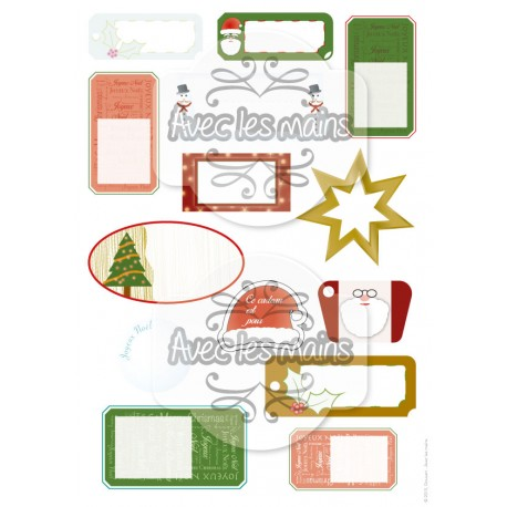 Étiquettes - Noël - stamp