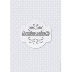 flocons blancs sur fond gris - stamp