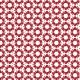 Fleurs rouges cœurs blanc - zoom