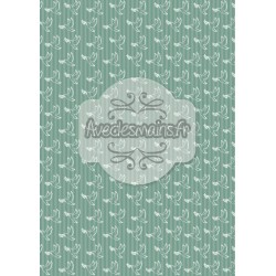 Colombes blanches fond bleu-vert - stamp
