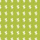 Petits cactus Blancs sur fond vert - stamp