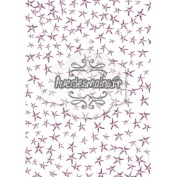 Étoiles prune désorganisées - stamp