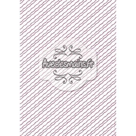 Rayures ondulées prune en diagonale - stamp