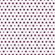Points prune 2 tailles sur fond blanc - zoom