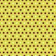 Points prune et blancs 2 tailles sur fond vert - zoom