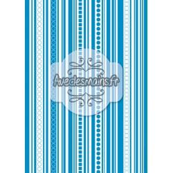 Lignes verticales monochrome bleu - stamp