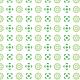 Imitation fleurs vertes - zoom