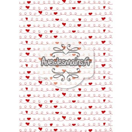Cœurs et bouclettes rouges - stamp