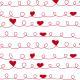 Cœurs et bouclettes rouges - zoom